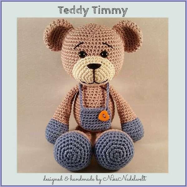 Häkelanleitung - Teddy Timmy | Bären Teddys | Pinterest | Häkeln ...