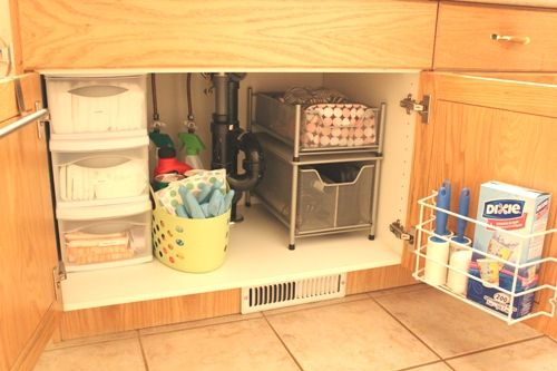 Organize The Space Under The Bathroom Sink Small Bathroom And