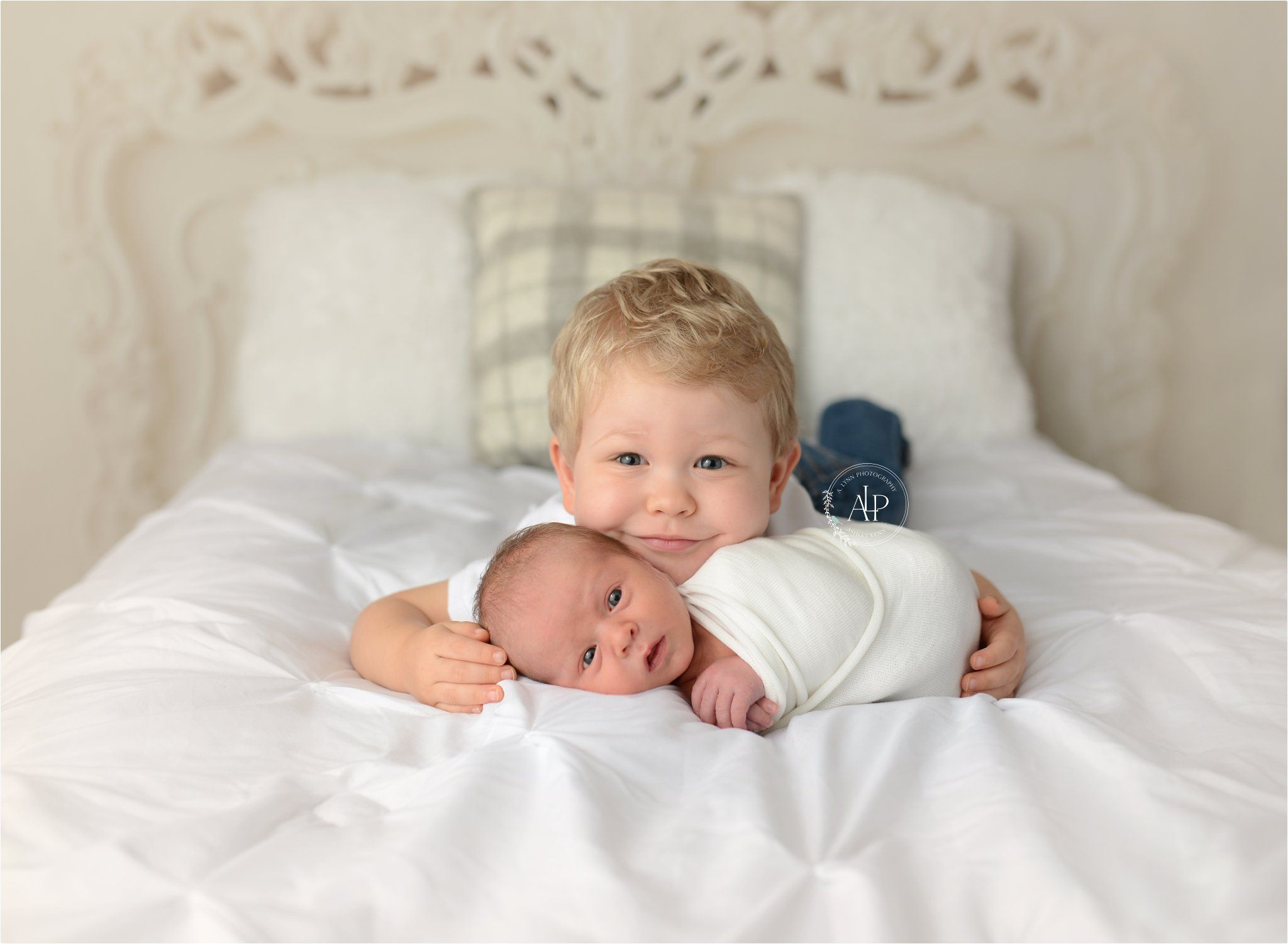 Newborn With Sibling Brothers Newborn Poses Newborn Poses By A