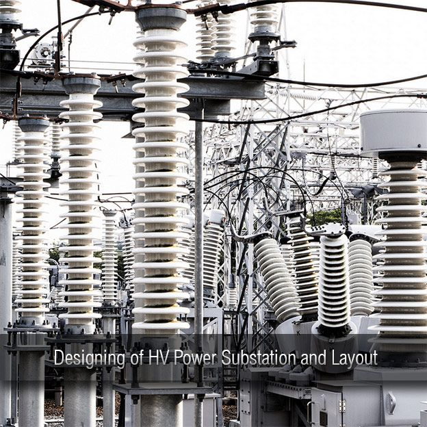 Designing Of Hv Power Substation And Layout Electrical Substation Layout Power