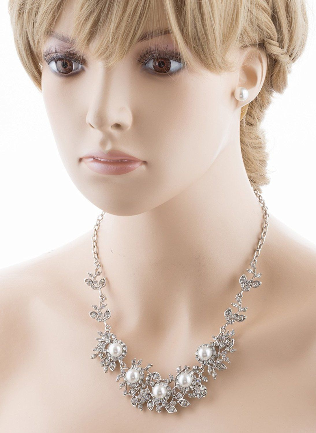 Accessoriesforever bridal wedding prom jewelry set crystal