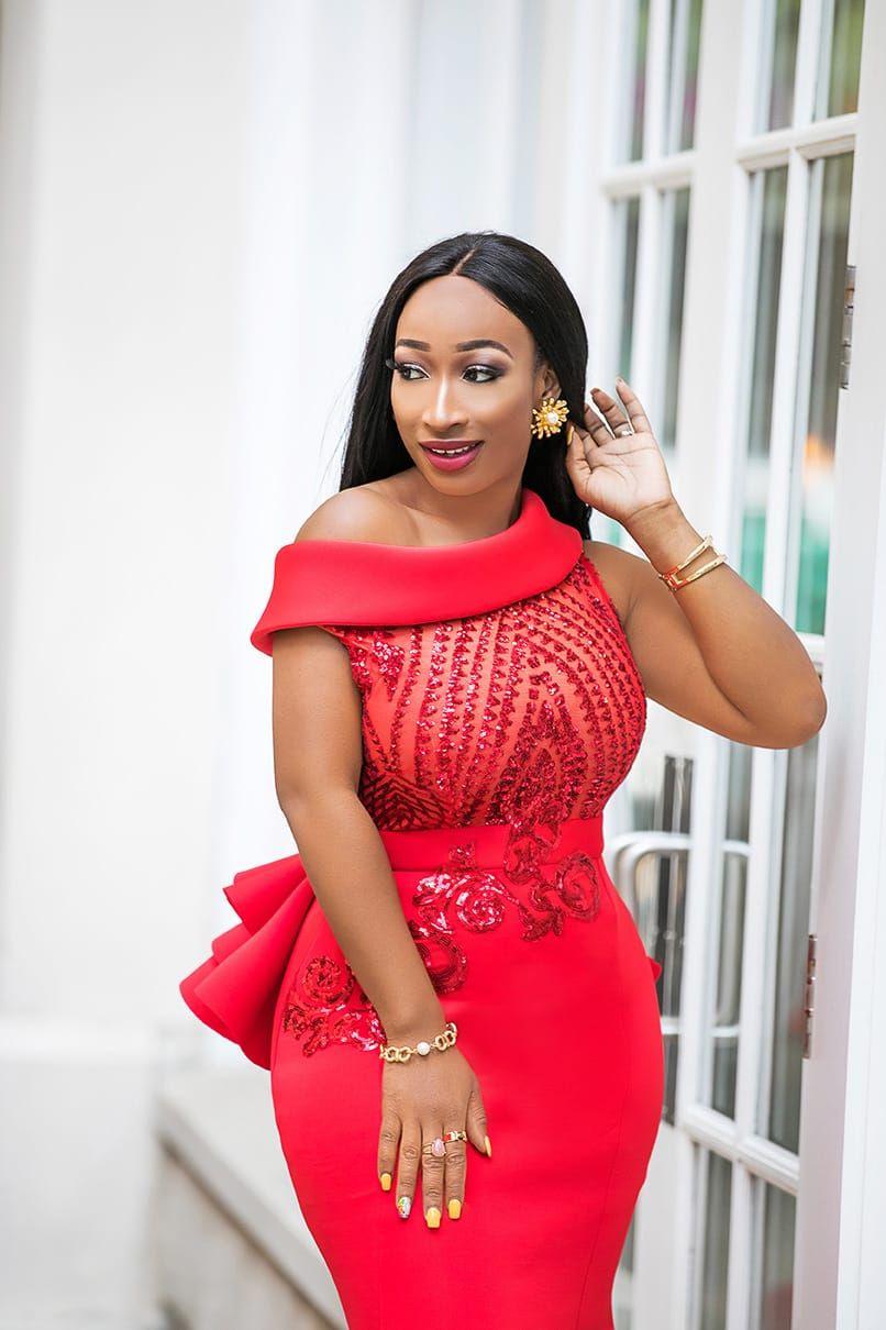Red Kenia Nunez Dress Kenia Nunez Designs African Design Dresses Latest African Fashion Dresses Lace Dress Styles [ 1210 x 806 Pixel ]