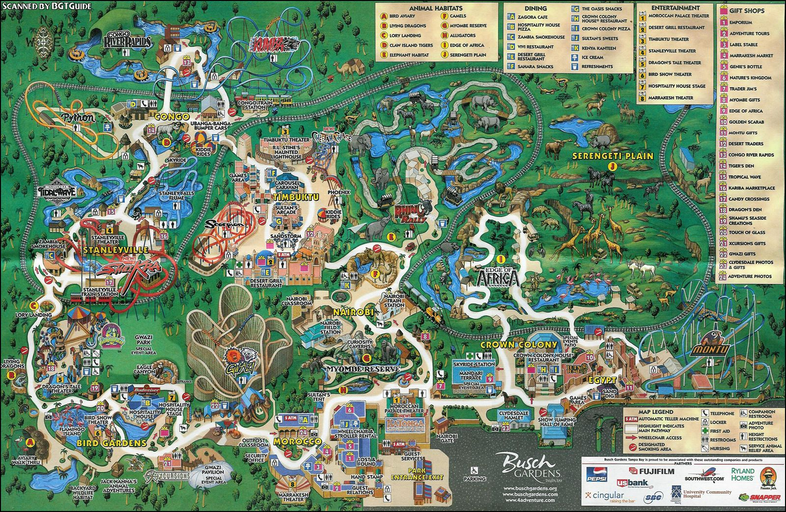 Image result for busch gardens park map park map designs How far is busch gardens from orlando