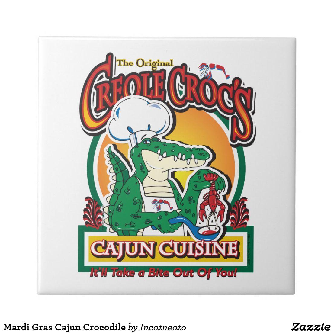 Mardi Gras Cajun Crocodile Ceramic Tile New Orleans And Mardi Gras