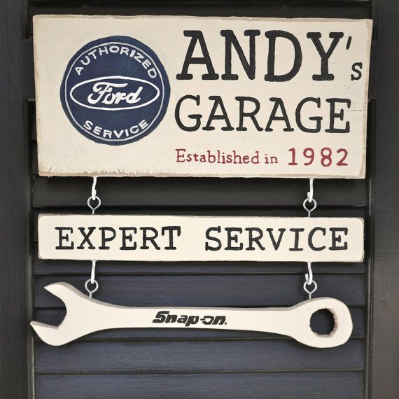 Personalized Garage Sign Hand Painted Ford By Handygerl 75 00