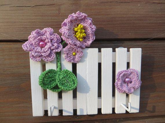 Jewelry Holder Organizer for woman Gift for girl Key holder Crochet