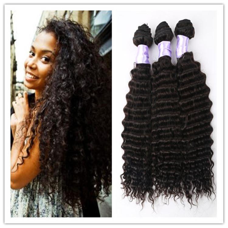 8a Brazilian Deep Curly Hair Brazilian Deep Wave Virgin Hair
