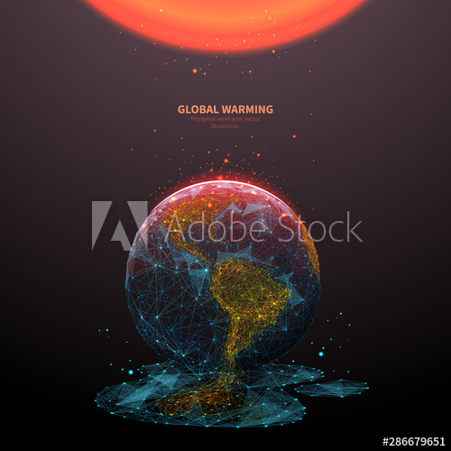 Global warming low poly banner template. 3d polygonal melting earth planet. Ecological problem concept with connected dots and lines. Environmental disaster vector color wireframe mesh illustration - Buy this stock vector and explore similar vectors at Adobe Stock#adobe #banner #buy #color #concept #connected #disaster #dots #earth #ecological #environmental #explore #global #illustration #lines #melting #mesh #planet #poly #polygonal #problem #similar #stock #template #vector #vectors #warming