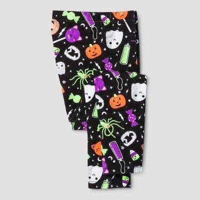 Toddler Girls\u0027 Halloween Leggings - Cat  Jack™ Black  Target