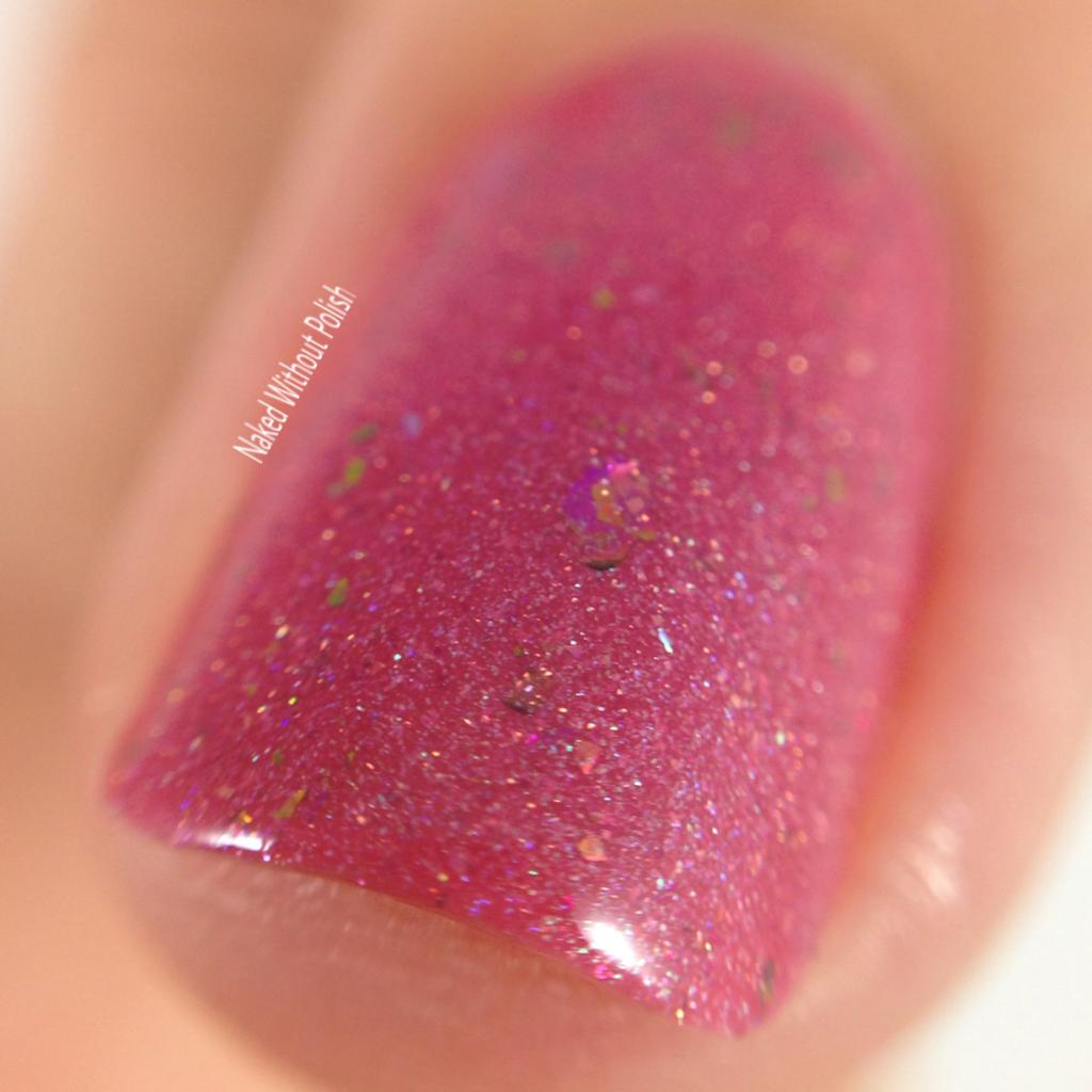 Macro of Frenzy Polish Glitter in My Cupcake @frenzypolish