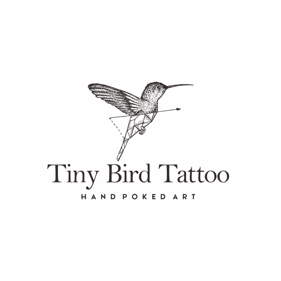Minimalism In Logo Design 99designs Tiny Bird Tattoos Geometric Tattoo Bird Hummingbird Tattoo