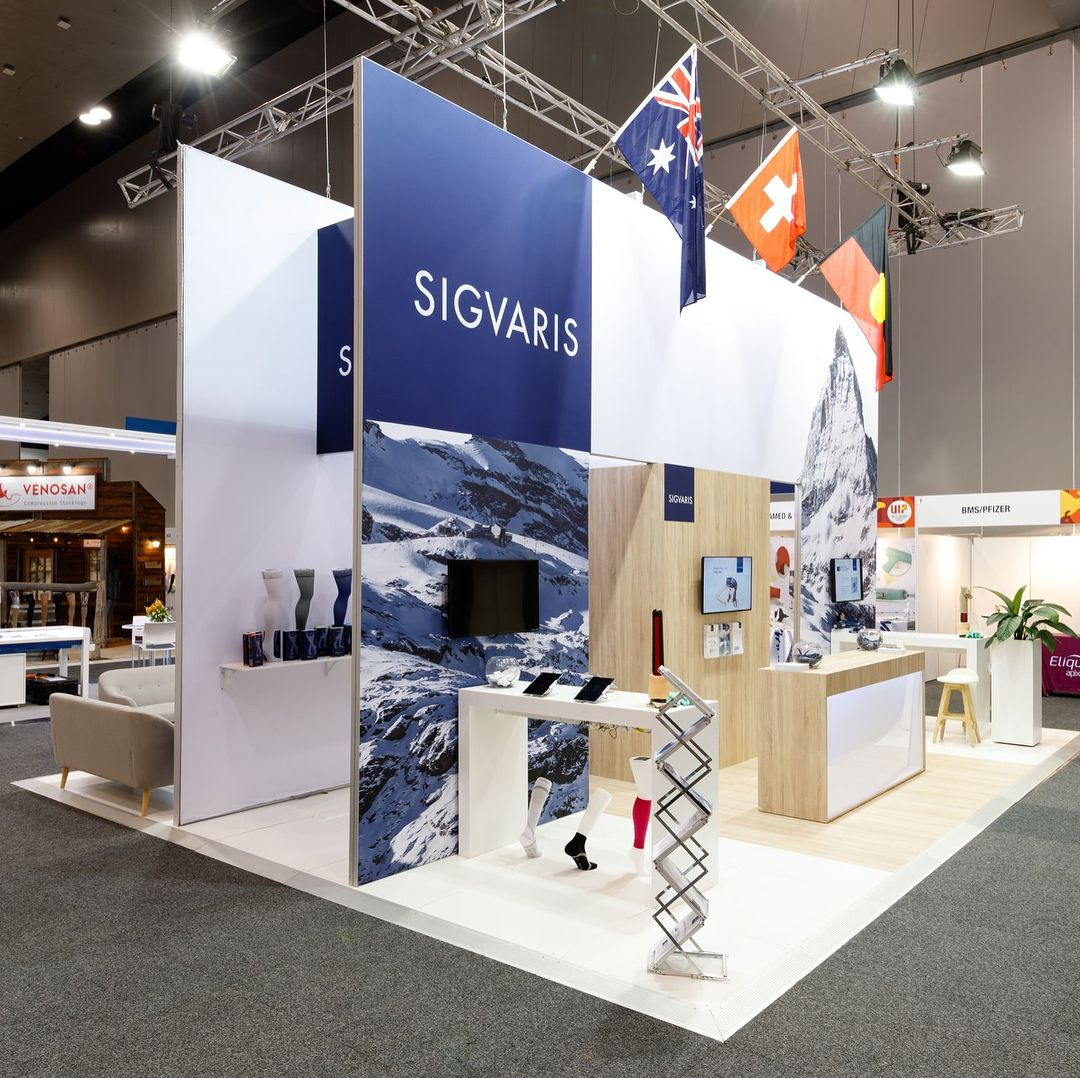 Modular Exhibition Stands Zone : Custom solutions sigvaris custom stand at the world congress of