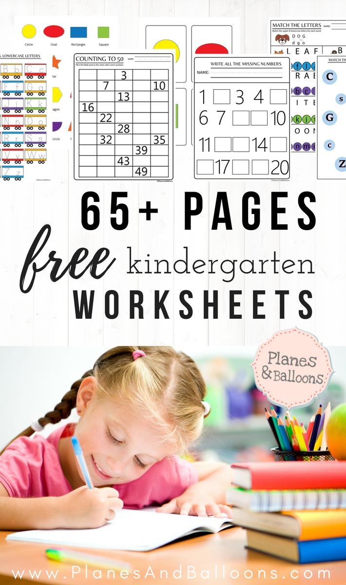 400+ free printable worksheets for kindergarten INSTANT download - Planes & Balloons