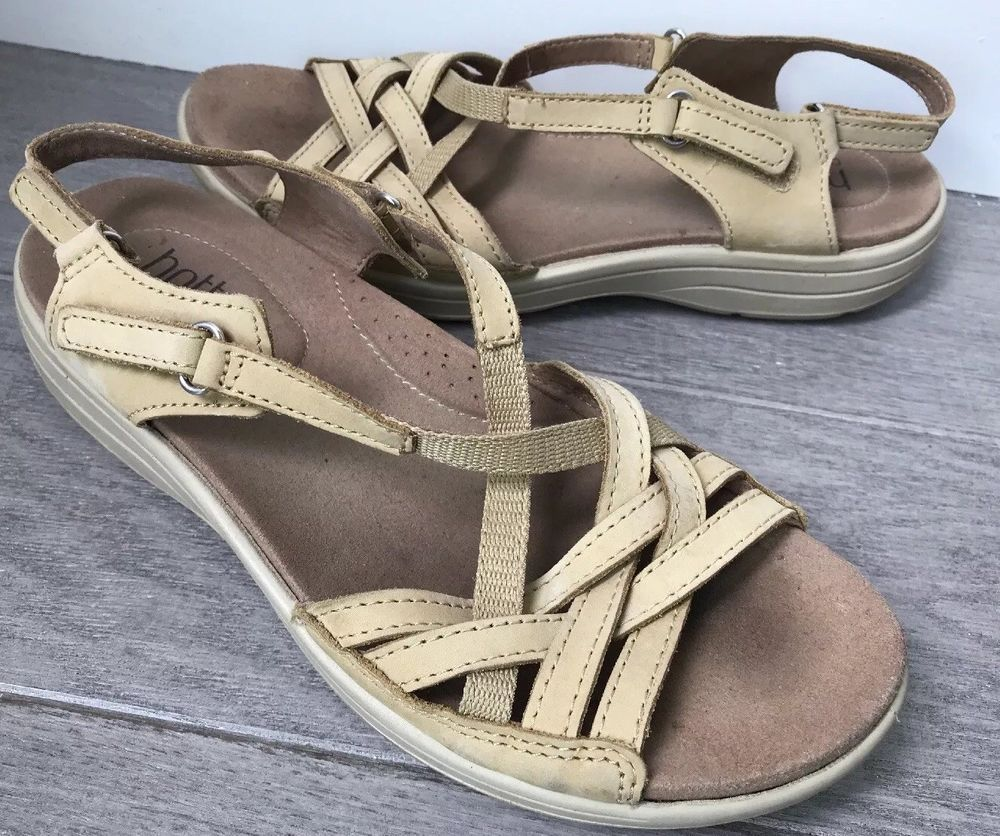 50aec8fd Hotter Comfort Concept Maisie Leather Strappy Sandals Beige Tan US Size 6.5  #fashion #clothing #shoes #accessories #womensshoes #sandals (ebay link)
