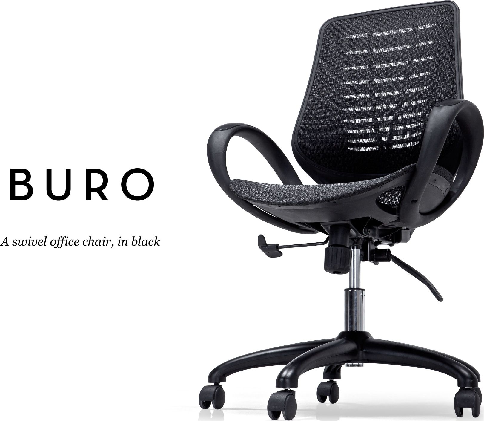 Buro Swivel Office Chair, Black from Express