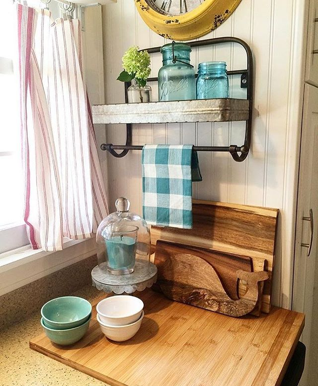 kitchen towel bars brown jordan outdoor kitchens rack a touch of turquoise home decor