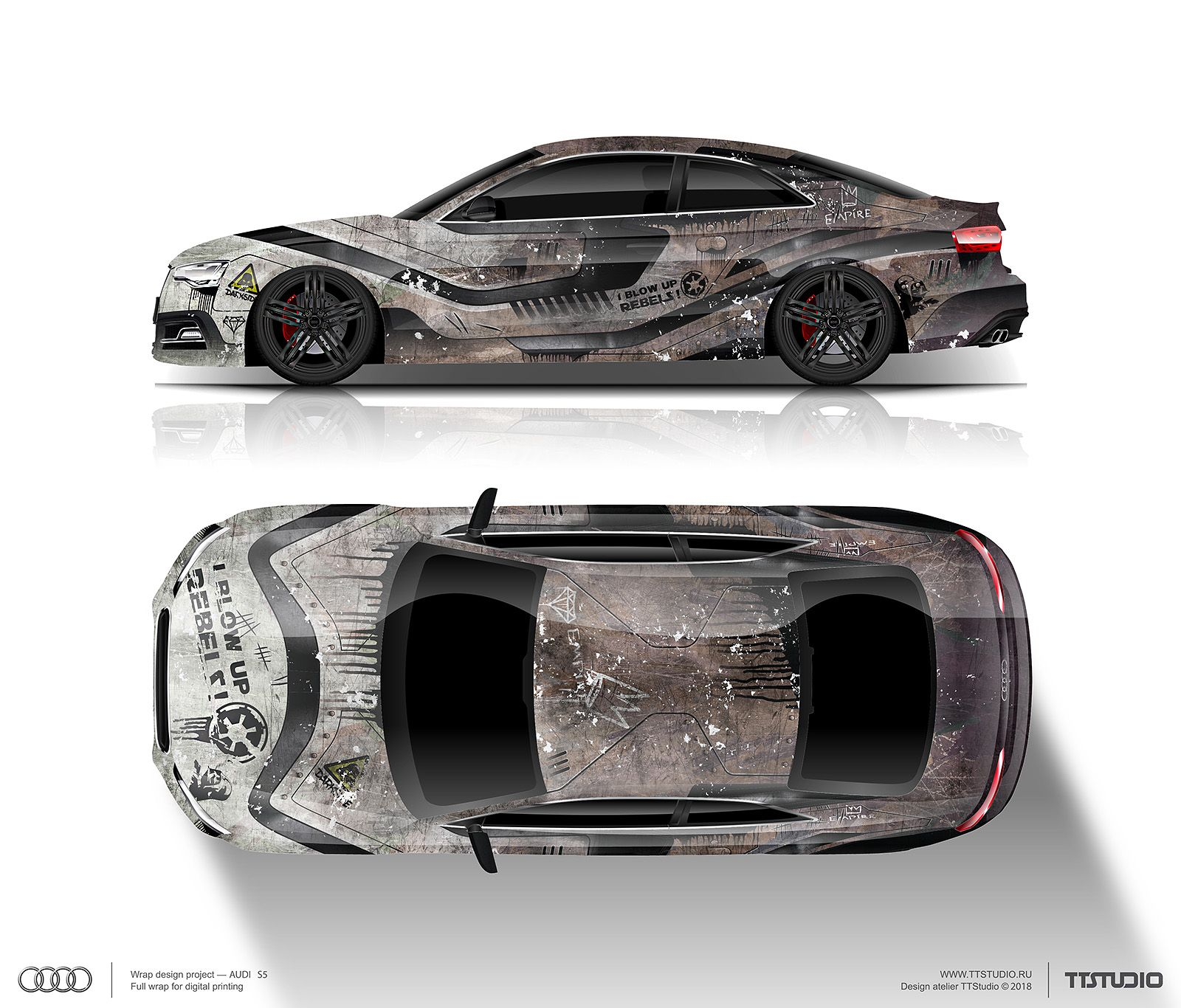 wrap design concept stormtrooper for audi s5 for sale (can be