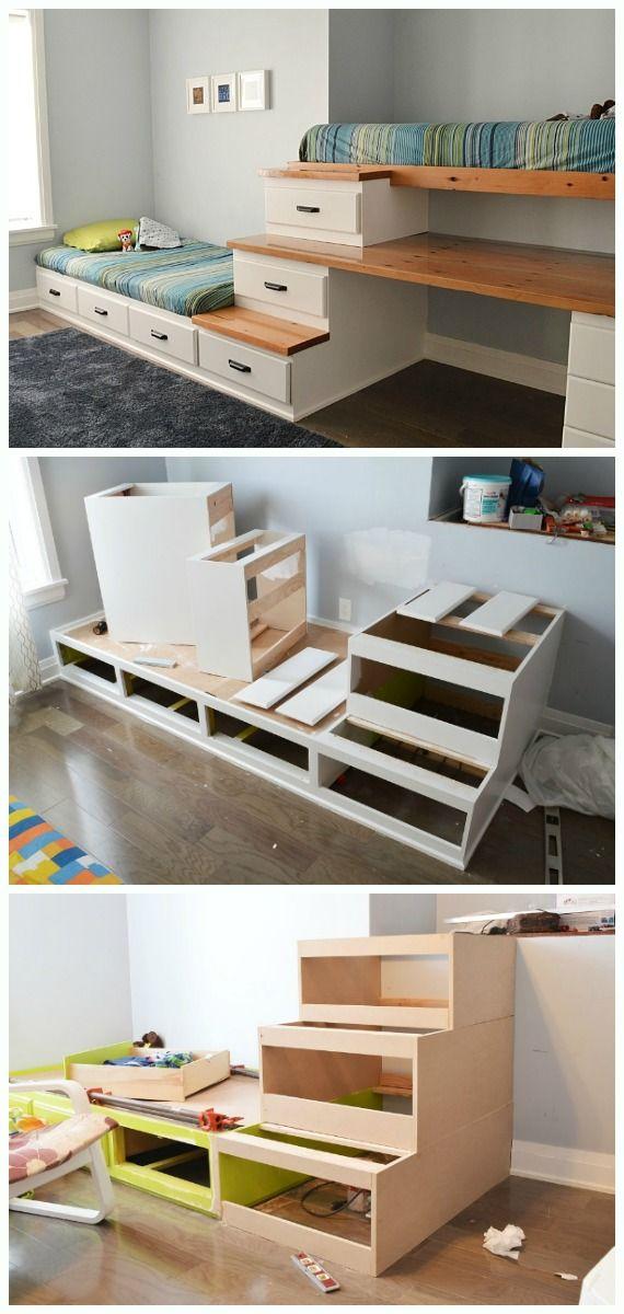 Diy Space Saving Bed Frame Design Free Plans Instructions Diy Furniture Bedroom Bed Frame Design Diy Space Saving