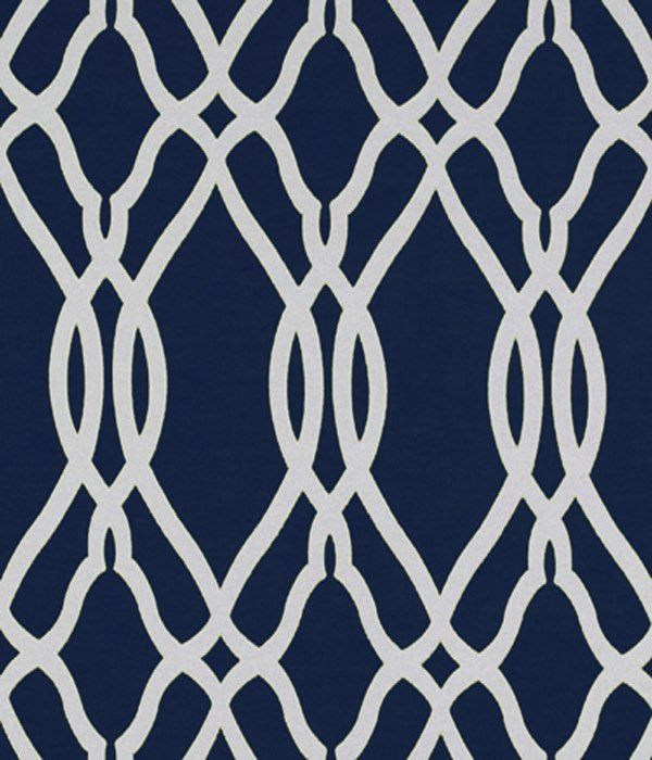 Large Geo Navy Fabric Swatch - Marks & Spencer