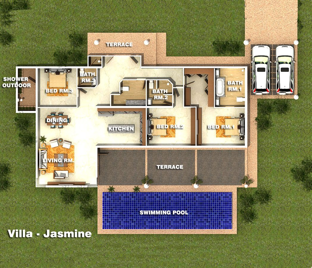 3d Modern House Plans Projects Collection: Bali Small Villa Project - Cerca Con Google