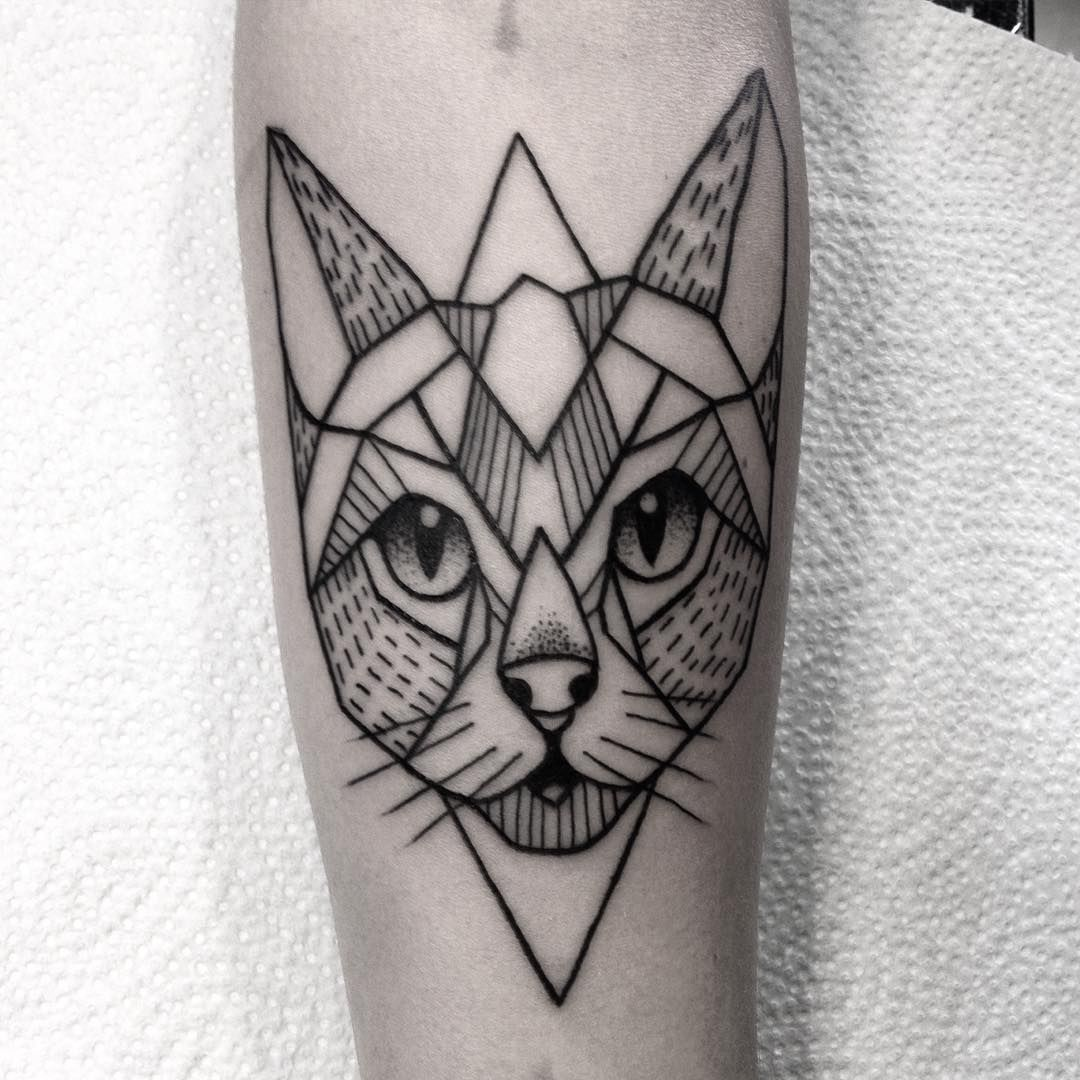 Tattoosimpletattooedinkedgirlsilesiacatlinesdotworkblack