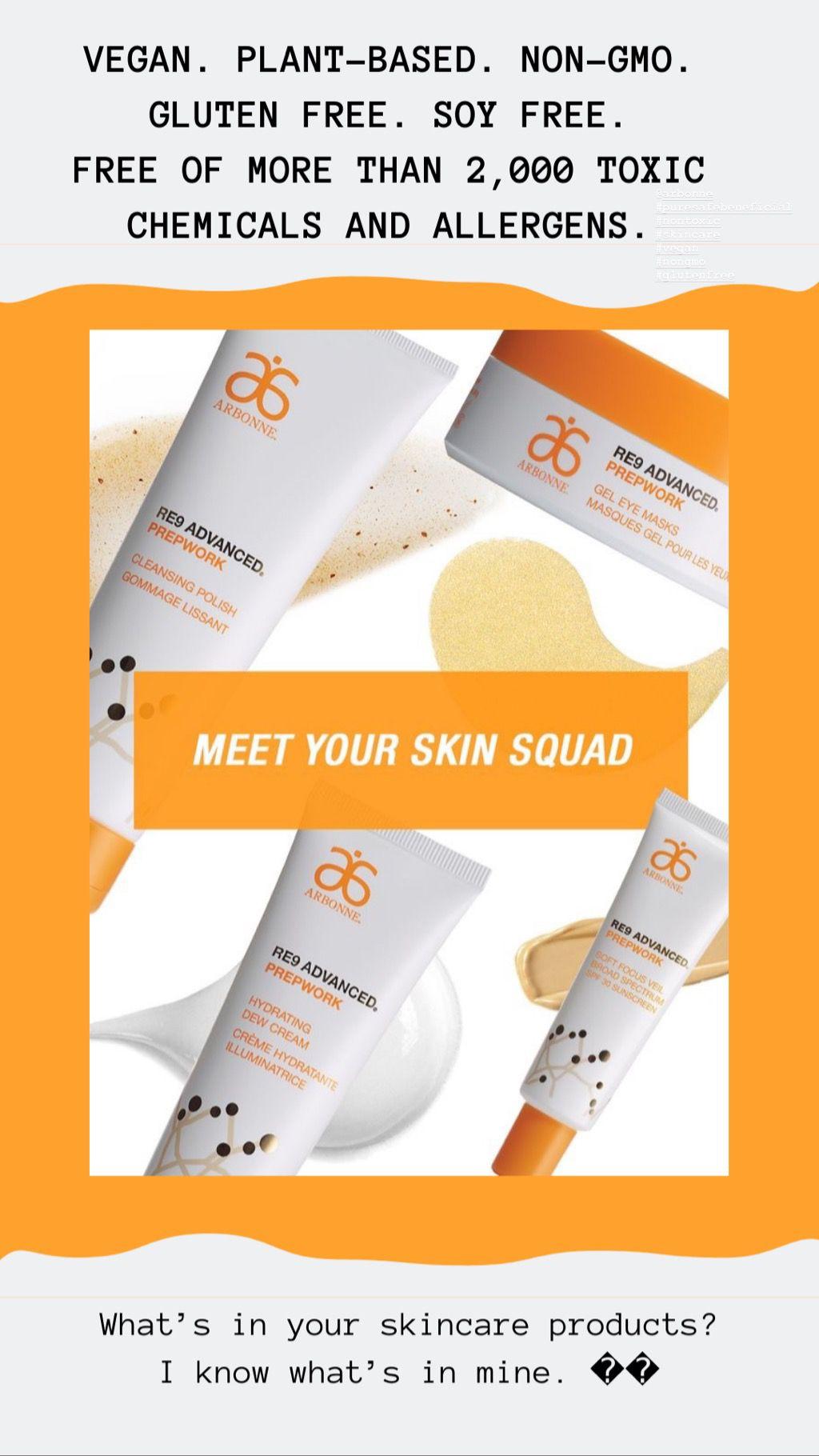 RE9 Prepwork Anti aging skin products, Arbonne, Skin care