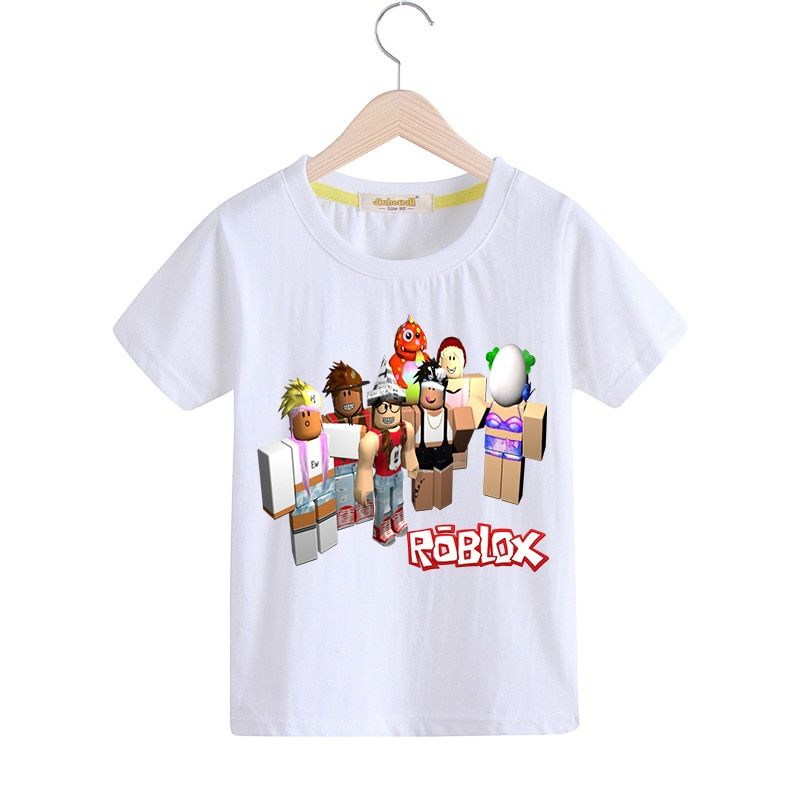 20aad039427 ROBLOX Printed Kids Cotton T-Shirts For Boy s Girl s