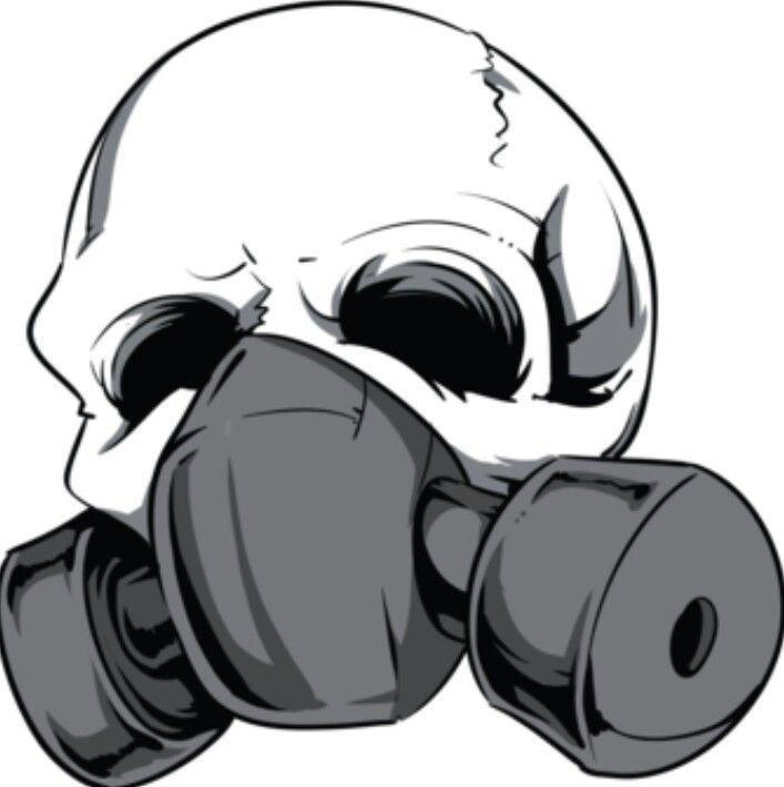 Gas Mask Skull Skull Illustration Skull Skull Art