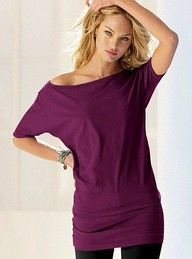 Cute Dark purple shirt that goes off the shoulders