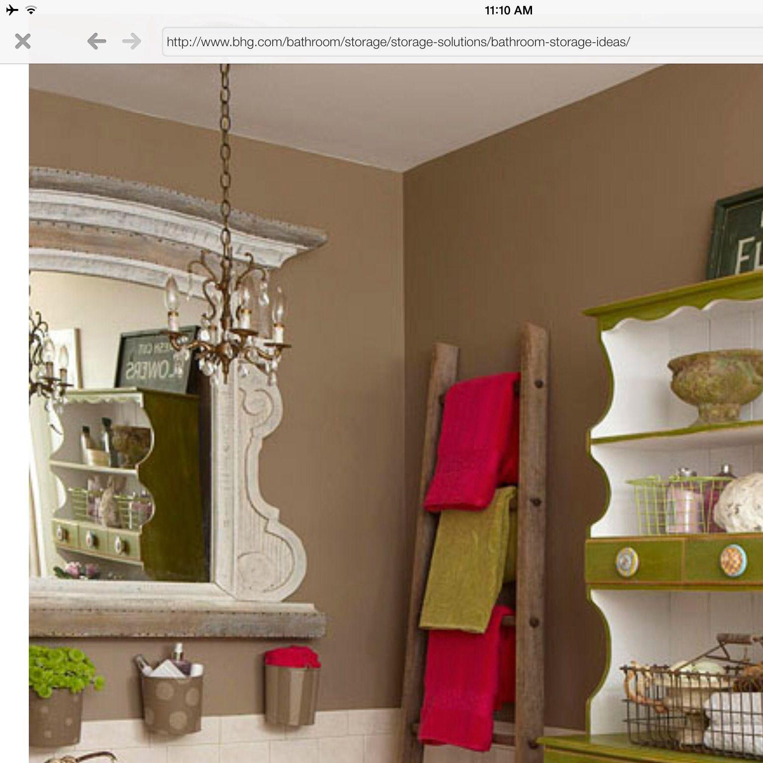 Love the towel ladder powder room pinterest bath ideas towels