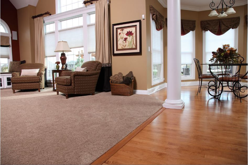 The Best Of Both Worlds Laminate Carpet Open Concept Home Living Room Flooring Home
