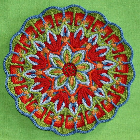 Crochet Overlay Mandala No 1 Pattern Pdf In English Deutsch