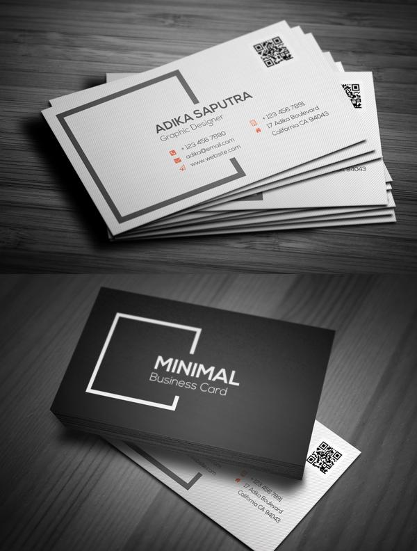 Clean Minimal Business Card Minimal Business Card Business Card Design Name Card Design