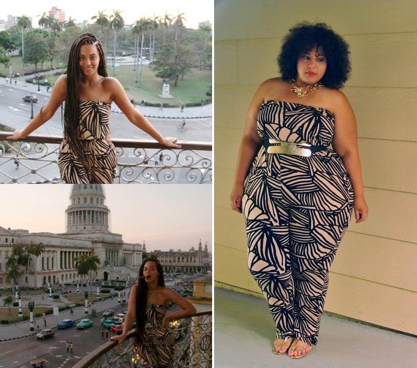 79e2f1fe98b Celeb Style Inspiration  Beyonce Style  Rachel Pally Jumpsuit  Plus Size  Fashion