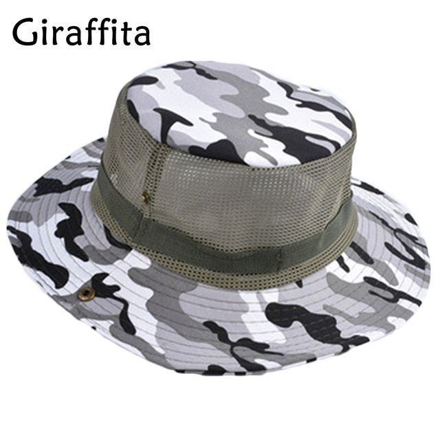 Camouflage Hiking Cap Sunshade Fishing Bucket Hat Climb Mountain Jungle  Hiking UV Protection Hats Review b3425d2fce6f