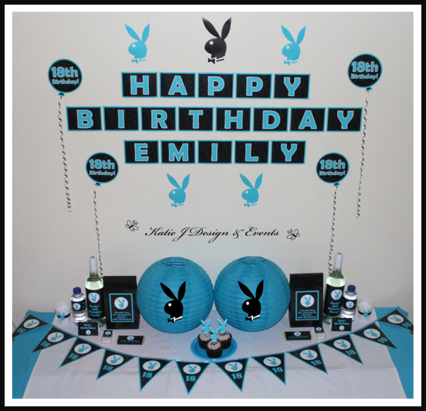 Playboy Play Boy Bunny Personalised 18th 30th 21st Birthday Party Bachelorette Hens Decorations Supplies Packs Shop