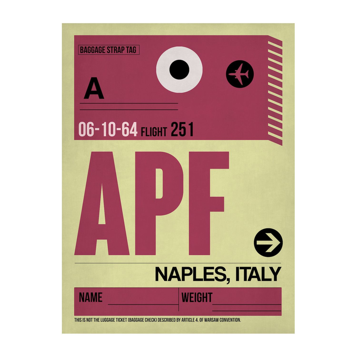 APF Naples Luggage Tag Inspired by luggage tags and air travel ...