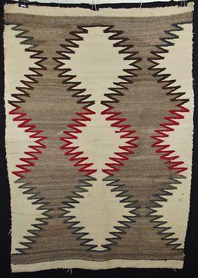 Fine Antique Indian Rug Navajo Serrated Native American Blanket Textile Ebay