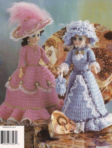 Pastel Promenade Pretties Annies Doll Clothes Crochet Pattern