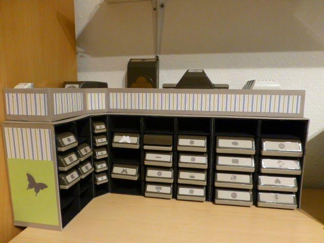 bastelteufelchen aufbewahrung f r stampin up stanzen aus. Black Bedroom Furniture Sets. Home Design Ideas