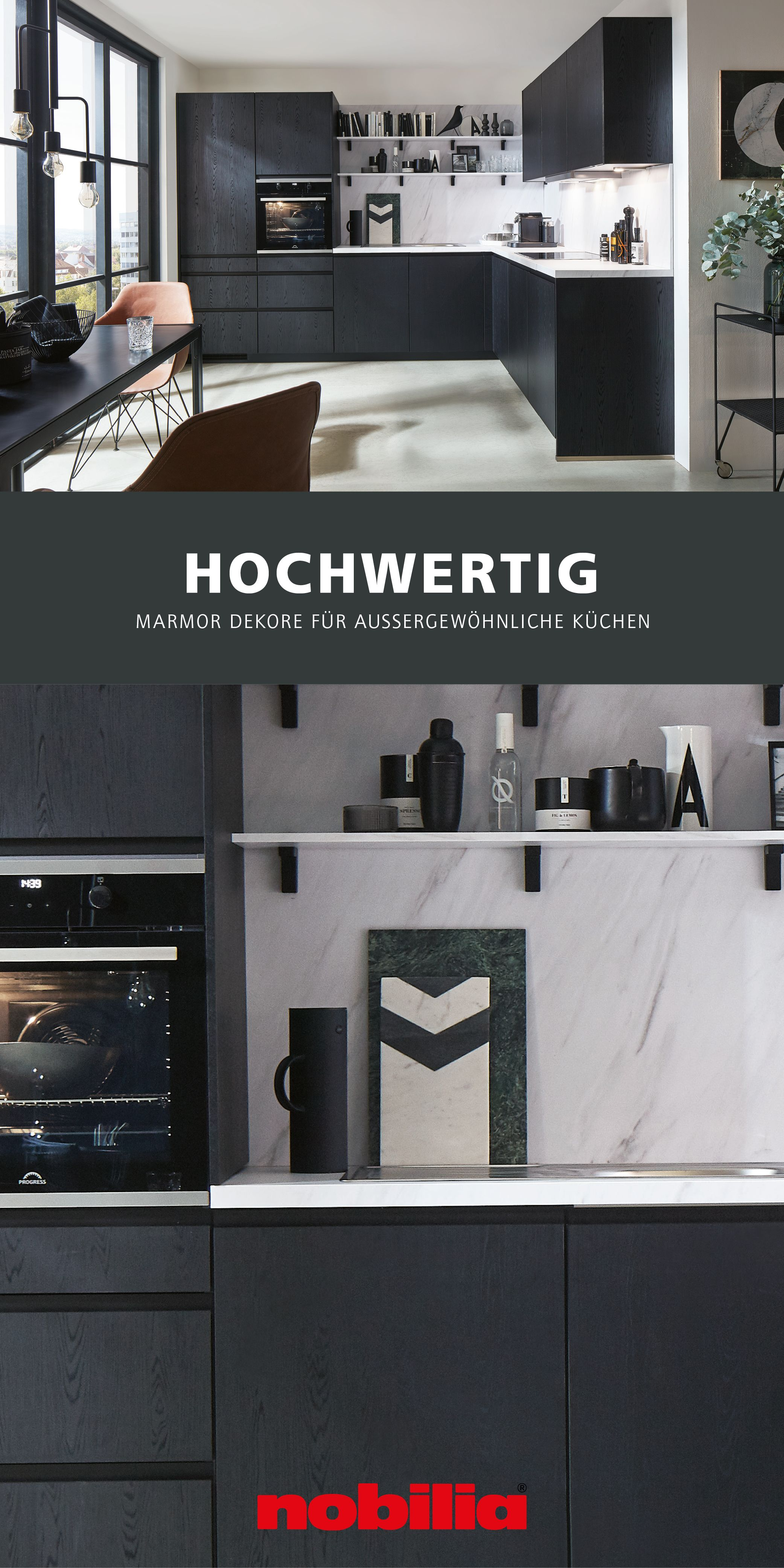 Moderne Kuche Mit Edlen Dekoren In 2020 Moderne Kuche Kuche Schwarz Kuche Schwarz Weiss