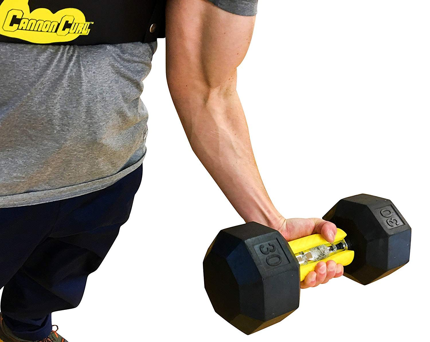 Core Prodigy Fit Grips 2.0 Thick Bar Weight Lifting Big Grips For Bicep Yellow Crosstrainer Ausdauertraining
