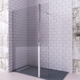 Mampara de ducha cristal fijo + abatible   Paneles de ...