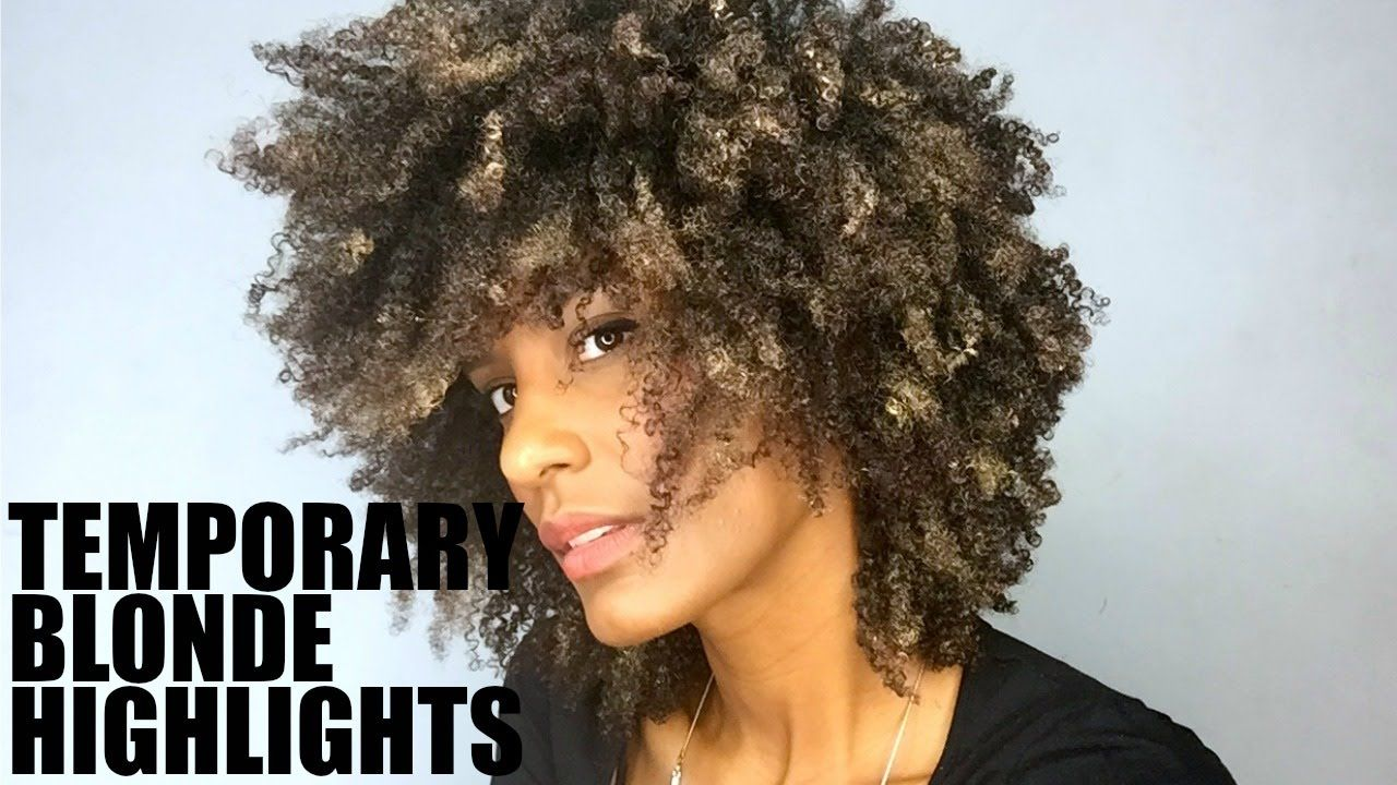 Temporary Blonde Highlights on Natural Afro Hair | Blonde highlights, Natural afro hairstyles ...
