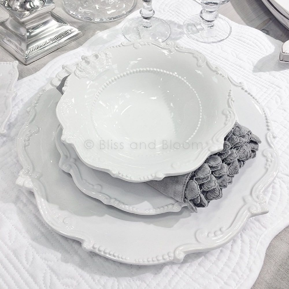 White French Style Dinner Set from blissandbloom.co.uk  sc 1 st  Pinterest & White French Style Dinner Set from blissandbloom.co.uk | Tableware ...
