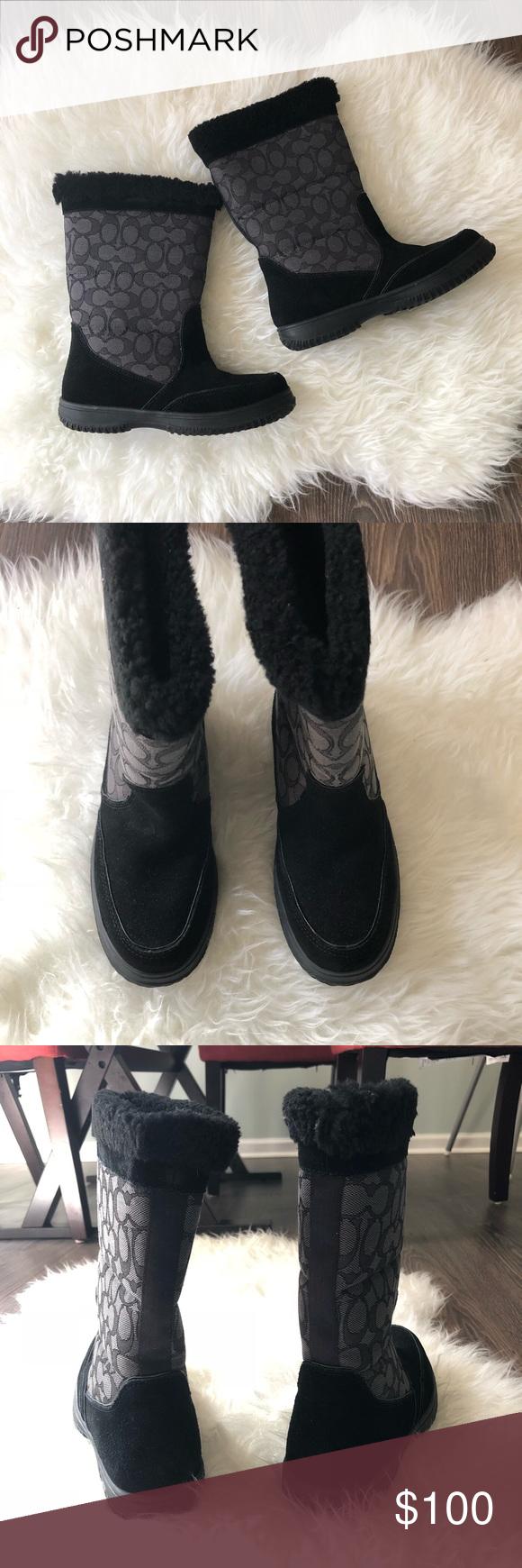 S F4298 Ladies Fauz Fur Lined Grey Mid Calf Boots