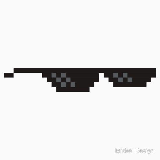 8 Bit Mlg Glasses Essential T Shirt By Miskel Design Glasses Meme 8 Bit Swag Glasses
