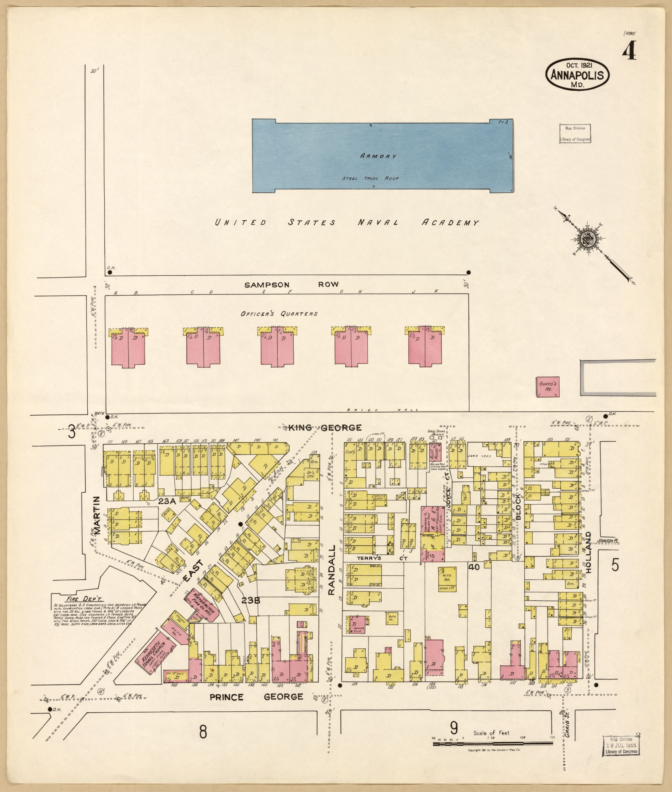 Sanborn Fire Map.Image 4 Of Sanborn Fire Insurance Map From Annapolis Anne Arundel