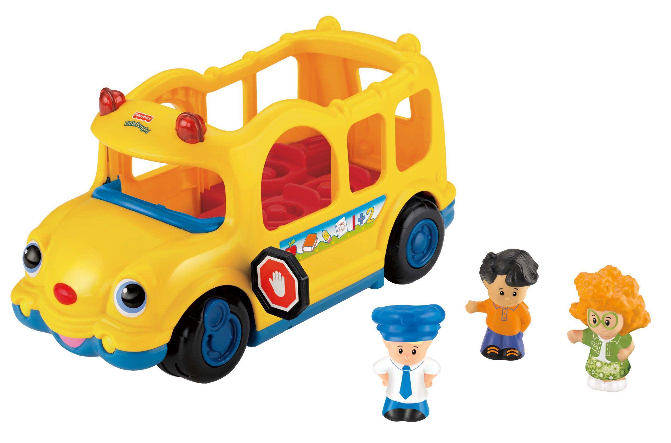 Little people car toys  FisherPrice Little People Lilu Movers School Bus  Baby Ideas
