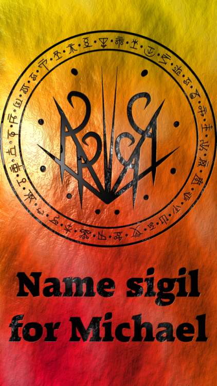 Name sigil for Michael Requested by anonymous | Sigil ...